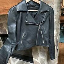 Andrew Marc X Richard Chai Black Leather Moto Jacket Sz. Xs Barely Worn Photo