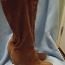 Andrew Stevens Studio Brown Suede Wedge Heels Knee High Boot Women's Size 8  Photo