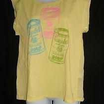 Andy Warhol by Pepe Jeans London Size S Yellow Campbell Soup Tee Photo
