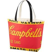 Andy Warhol Campbell's Soup Shopping Tote Bag Uniqlo Silkscreened Canvas Pop Art Photo