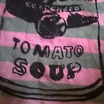 Andy Warhol Green and Pink Tote Bag With Campbell Soup Graphic Photo