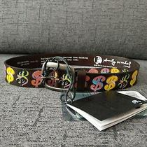 Andy Warhol Leather Belt by Pepe Jeans Sz 90 Campbells Marilyn Brillo Soup Photo
