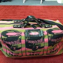Andy Warhol Pop Art Campbell Soup Olive/pink Canvas/leather Sport Duffle/tote Photo