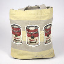 Andy Warhol Pop Art Campbells Soup Can Canvas Tote Bag With Banana Coin Purse  Photo