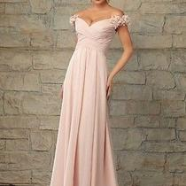 Angelina Faccenda Off the Sholder Blush Dress Size 10 Photo