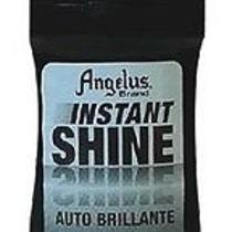 Angelus Instant Shoe Shine W/applicator Liquid High Gloss Finish Jet Black 3oz Photo