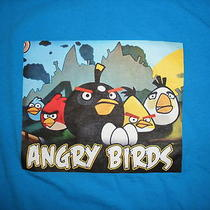 Angry Bird Adult Size X-Large T-Shirt Xl Blue Photo