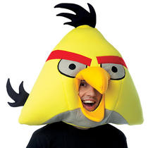 Angry Birds Yellow Bird Adult Mask Rovio Video Game App Costume Prop Fancy Dress Photo