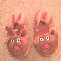 Animal Slippers Reindeer Brown Avon New  Never Worn Size M/l 7 In. Christmas Photo