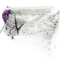 Aniya Wind March Anya Hindmarch Sequins Handbags Clutch Bag Silver Brand Used Photo