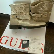Ankle Boots Guess Women - Leather Gold Uk 5 Eu 38 Photo
