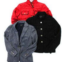 Ann Taylor Banana Republic Womens Long Sleeve Jacket Black Red Size 6 4 S Lot 3 Photo