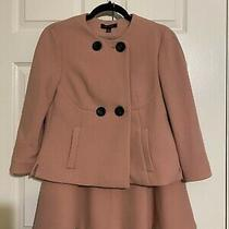 Ann Taylor Beautiful Blush Pink 2 Piece Jacket & Skirt Suit Sz 2 Photo