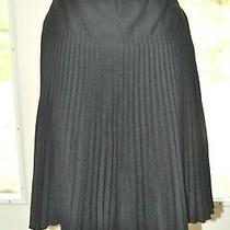 Ann Taylor Black Pleat Skirt 8 Photo
