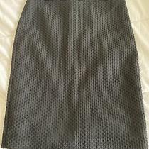 Ann Taylor Black Textured Skirt Size 6 Photo