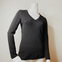 Ann Taylor Black v Neck Cashmere Pullover Sweater Size S Photo