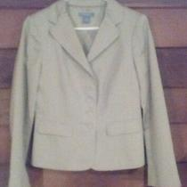 Ann Taylor Blazer/jacket  Woman's Sz 8 Beige  Button Up Front   a-66 Photo