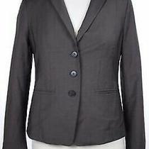 Ann Taylor Blazer Size 4p Petite Brown Solid Long Sleeve Wool Jacket Photo