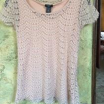 Ann Taylor Blush Pink Lace Shirt Top Photo