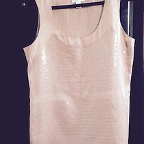 Ann Taylor Blush Sequin Sleeveless Tank Us Size S Photo