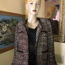 Ann Taylor Boucle' Lurex Jacket 10 Multicolor Photo