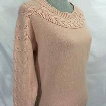 Ann Taylor Cable Trim Cashmere Blend Blush Pink Sweater Xs Womens Photo