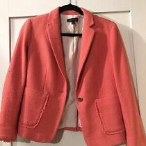 Ann Taylor Coral Tweed Blazer - Size 6 Worn Once Photo