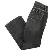 Ann Taylor Curvy Fit Distressed Black Bootcut Size 4 Women's Denim Jeans Pants Photo