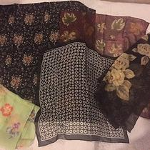 Ann Taylor Echo Silk Scarves Lot of 5 Photo