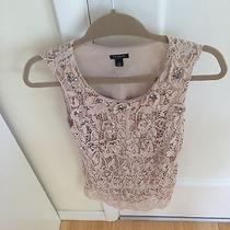 Ann Taylor Embroidered Blush Pink Top Photo