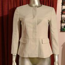 Ann Taylor Factory Beige Suit Jacket Blazer Sz 2 Classic Professional Beige Sz S Photo
