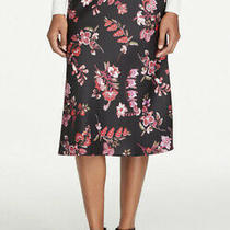 Ann Taylor Factory Floral Satin Midi Skirt Size 8 New With Tags Photo