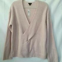 Ann Taylor Factory Womens Pullover Sweater Blush Pink Long Sleeve v Neck Xl New Photo