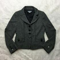 Ann Taylor Gray Jacket Coat Blazer Size 4 Three Button Career Tweed Textured J15 Photo