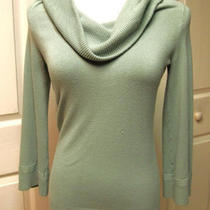Ann Taylor Loft Aqua Cowl Neck Sweater Photo