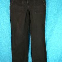 Ann Taylor Loft Black Capri Cropped Pants Size 6 Cotton Photo