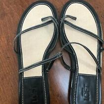 Ann Taylor Loft Black Leather Sandals - Size 7.5 - Never Worn Photo