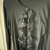 Ann Taylor Loft Black Long Sleeve Cardigan 3/4 Sleeve. Size Large  Photo