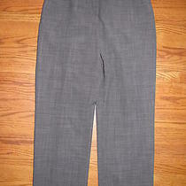 Ann Taylor Loft Black White Flat Front Smooth Wool Blend Lined Pants Size 8 Photo