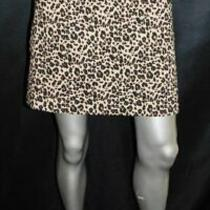 Ann Taylor Loft Brown/black Leopard Animal Print Pockets Straight Skirt Sz 8 Photo