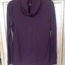 Ann Taylor Loft Button Cuff Drapey Turtleneck Cowl Neck Top Sweater Small S Nwot Photo