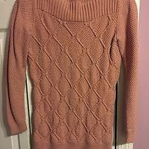 Ann Taylor Loft Cable Knit Boatneck Sweater Xs Light Pink Blush Pullover Jumper Photo