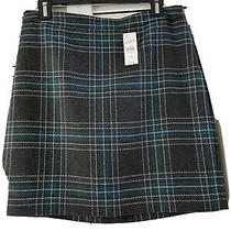 Ann Taylor Loft Career Skirt Womens Size 6 Gray/blue Plaid Photo