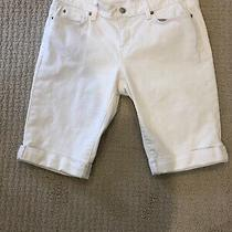 Ann Taylor Loft Cuffed Bermuda Shorts Modern Womens 4 White Photo