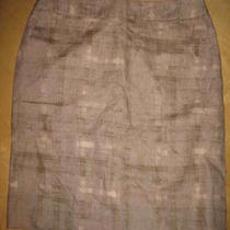 Ann Taylor Loft Lined Linen Skirt -Sz 8-Euc Photo