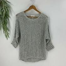 Ann Taylor Loft Lounge Womens Pullover Sweater Size Xs Black White Loose Knit Photo