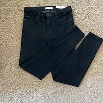 Ann Taylor Loft Modern Straight Corduroy Jeans Size 28 / 6 Black Women's Pants Photo