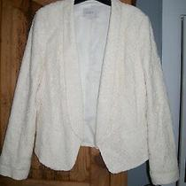 Ann Taylor Loft Nwot Floral Lace Blazer Jacket Cream Ivory Retail 138 Size 12 Photo