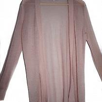 Ann Taylor Loft Open Cardigan Sweater Size M Blush Pink Long Sleeve Photo