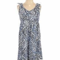 Ann Taylor Loft Outlet Women Blue Casual Dress S Photo